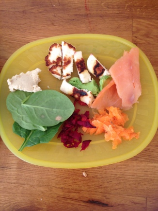 Little persons rainbow plate